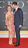 Claire Foy and Matt Smith at the &quot;The Crown&quot; TV premiere, Odeon Leicester Square cinema, Leicester Square, London, England, UK, on Tuesday 01 November 2016. <br /> CAP/CAN<br /> &copy;CAN/Capital Pictures /MediaPunch ***NORTH AND SOUTH AMERICAS ONLY***