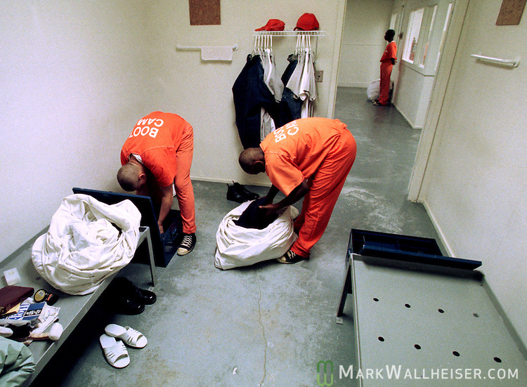 boot c juvenile offenders stow their belongings at the