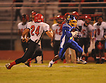 Oxford High's Stan Ivy (6) catches a pass vs. Center Hill in Oxford, Miss. on Friday, September 23, 2011.