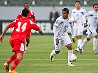 CARSON, CA - March 23, 2012: Mario Martinez (7) of Honduras during the Honduras vs Panama match at the Home Depot Center in Carson, California. Final score Honduras 3, Panama 1.
