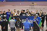 10 MAR 2012:  The Grand Valley State women's track team celebrates winning the national championship during the Division II Men's and Women's Indoor Track and Field Championship held at Myers Fieldhouse on the campus of Minnesota State University, Mankato, in Mankato, MN.  Brian Fowler/NCAA Photos