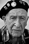 Spanish Civil War and Abraham Lincoln Brigade veteran Nate Thornton, 92, at his home in Hayward, CA. From a project photographing and interviewing the last surviving American volunteers - there are less than 40 remaining - who went to Spain to fight against Facism in the 1930's.