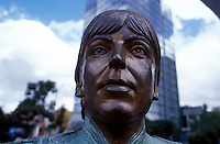 Beatle Paul McCartney's head in bronze outside of liverpool pub on Ave. Insurgentes, Mexico DF