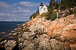Bass Harbor Head Light, on the rocky coast of Maine in Acadia National Park, Downeast, ME, USA