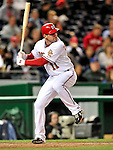 29 September 2009: Washington Nationals' third baseman Ryan Zimmerman in action against the New York Mets at Nationals Park in Washington, DC. The Nationals rallied to defeat the Mets 4-3 in the second game of their final 3-game home series. Mandatory Credit: Ed Wolfstein Photo
