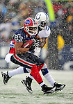 3 January 2010: Buffalo Bills' wide receiver Lee Evans in action against the Indianapolis Colts on a cold, snowy, final game of the season at Ralph Wilson Stadium in Orchard Park, New York. The Bills defeated the Colts 30-7. Mandatory Credit: Ed Wolfstein Photo