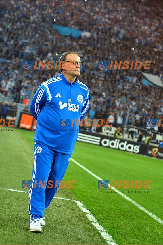 Marcelo Bielsa (om) <br /> Football Calcio 2014/2015<br /> Ligue 1 Francia Stadio VelodromeOlympique Marsiglia - Paris Saint Germain <br /> Foto Panoramic / Insidefoto <br /> ITALY ONLY