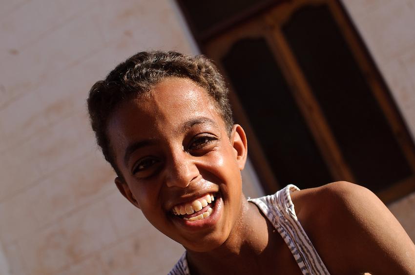 A boy in Mut, Dakhla Oasis