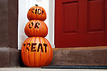 Trick or Treat Pumpkins, West Village. Manhattan, New York City