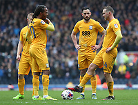 Preston North End prepare to restart the game after Blackburn Rovers take the lead <br /> <br /> Photographer Rachel Holborn/CameraSport<br /> <br /> The EFL Sky Bet Championship - Blackburn Rovers v Preston North End - Saturday 18th March 2017 - Ewood Park - Blackburn<br /> <br /> World Copyright &copy; 2017 CameraSport. All rights reserved. 43 Linden Ave. Countesthorpe. Leicester. England. LE8 5PG - Tel: +44 (0) 116 277 4147 - admin@camerasport.com - www.camerasport.com