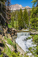 Brooks Creek Falls, Breccia Cliffs, Absaroka Mountains, Dubois, Wyoming