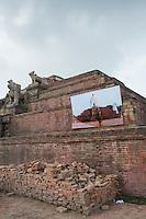 Nepal, Bhaktapur. Earthquake damage 2015
