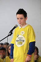 NO FEE PICTURES.8/3/12 Dylan Bowbrick, Old Barough Road, Swords , taking part in the Dublin County final, part of the overall Eason 2012 Spelling Bee, held at St Olaf's NS, Dundrum. .For further details visit www.easons.com/spellingbee and stay tuned to RTE 2fm. Picture:Arthur Carron/Collins