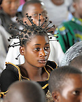 Student in a class at Patrice Lumumba University, a United Methodist school in the Congolese village of Wembo Nyama.