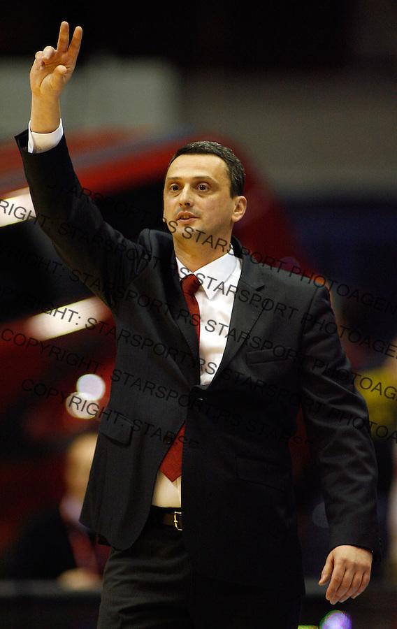 Kosarka, NLB League, season 2008/09.Crvena Zvezda Vs. Buducnost.Head coach Dejan Radonjic.Beograd, 20.12.2008. .Photo: © Srdjan Stevanovic/Starsportphoto.com