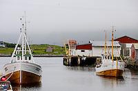 Norway, Vesteraalen. Nykvåg is a small village in Bø, in Vesterålen. The harbour.