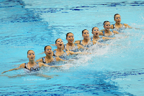 Japan National team (JPN), JULY 9, 2011 - Synchronized Swimming : Synchronized Swimming Japan National team perform during the team technical routine Exhibition at Tatsumi International pool in Tokyo, Japan. (Photo by Yusuke Nakanishi/AFLO SPORT) [1090]