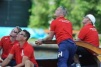 ZEILEN: EARNEWALD, 22-07-2014, SKS skûtsjesilen, debuterend schipper Alco Reijenga op het skûtsje van Heerenveen, ©foto Martin de Jong