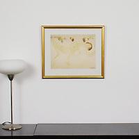 "Rodin: ""Reclining Female Nude"", Digital Print, Image Dims. 11.5"" x 15"", Framed Dims. 17.5"" x 20.75"""