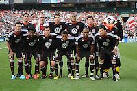 DC United team photo. LA Galaxy defeated DC United 2-1 at RFK Stadium, Saturday July 18, 2010.