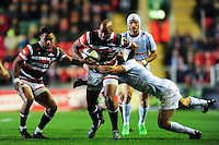 JP Pietersen of Leicester Tigers goes on the attack. European Rugby Champions Cup match, between Leicester Tigers and Racing 92 on October 23, 2016 at Welford Road in Leicester, England. Photo by: Patrick Khachfe / JMP