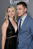 BEVERLY HILLS, CA. October 13, 2016: Valorie Curry &amp; Sam Underwood at the Los Angeles premiere of &quot;American Pastoral&quot; at The Academy's Samuel Goldwyn Theatre.<br /> Picture: Paul Smith/Featureflash/SilverHub 0208 004 5359/ 07711 972644 Editors@silverhubmedia.com