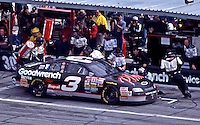Dale Earnhardt makes a pit stop en route to vicotory in theDaytona 500 at Daytona InternationalSpeedway in Daytona Beach, FL on February 15, 1998.  (Photo by Brian Cleary/www.bcpix.com)