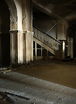 The Staircase Leading to the 4th Floor of the Abandoned Buck Hill Falls Inn in the Pocono's of Pennsylvania