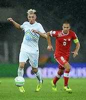 Fussball International  WM Qualifikation 2014   in Bern Schweiz - Slowenien         15.10.2013 Kevin Kampl (Slowenien) am Ball