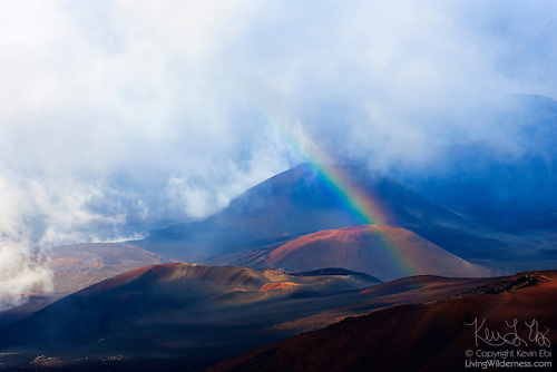 Rainbow on Haleakala, Haleakala National Park, Maui, Hawaii