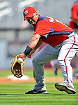 28 February 2011: Washington Nationals' infielder Chris Marrero warms up prior to a Spring Training game against the New York Mets at Digital Domain Park in Port St. Lucie, Florida. The Nationals defeated the Mets 9-3 in Grapefruit League action. Mandatory Credit: Ed Wolfstein Photo