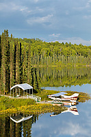 Float planes on Fish Lake, Talkeetna, Alaska