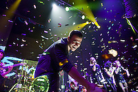 Moscow, Russia, 07/03/2011..Azerbaijani rock singer Emin Agalarov in concert at the Rai nightclub. Agalarov has released 5 albums, and his first UK album &quot;Memory&quot; is due for release. He is also the commercial director of the Crocus International company, founded by his father Aras, and married to Leila Alieva, daugher of Azerbaijan President Ilkham Aliev.