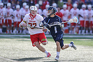College Park, MD - March 18, 2017: Villanova Wildcats John Kluh (1) in action during game between Villanova and Maryland at  Capital One Field at Maryland Stadium in College Park, MD.  (Photo by Elliott Brown/Media Images International)