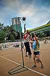 Mixed netball - charity sports event at Westminster Academy, London