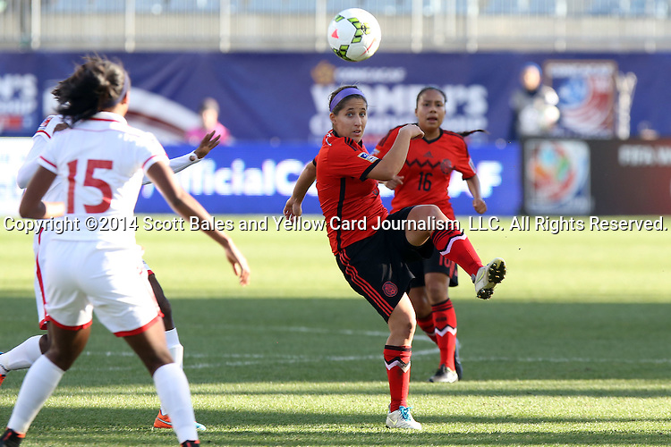 26 October 2014: Teresa Noyola (MEX). The Trinidad & Tobago Women's National Team played the Mexico Women's National Team at PPL Park in Chester, Pennsylvania in the 2014 CONCACAF Women's Championship Third Place game. Mexico won the game 4-2 after extra time. With the win, Mexico qualified for next year's Women's World Cup in Canada and Trinidad & Tobago face playoff for spot against Ecuador.