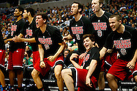 PITTSBURGH, PA - MARCH 21: The North Carolina State Wolfpack bench reacts late in the second half against the Villanova Wildcats during the third round of the 2015 NCAA Men's Basketball Tournament at Consol Energy Center on March 21, 2015 in Pittsburgh, Pennsylvania.  (Photo by Jared Wickerham/Getty Images)