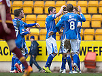 St Johnstone v Motherwell&hellip;20.02.16   SPFL   McDiarmid Park, Perth<br />David Wotherspoon celebrates his goal<br />Picture by Graeme Hart.<br />Copyright Perthshire Picture Agency<br />Tel: 01738 623350  Mobile: 07990 594431