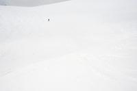 Lake Louise, skiing. Rockies, Alberta, Canada.
