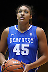 21 December 2014: Kentucky's Alyssa Rice. The Duke University Blue Devils hosted the University of Kentucky Wildcats at Cameron Indoor Stadium in Durham, North Carolina in a 2014-15 NCAA Division I Women's Basketball game. Duke won the game 89-68.