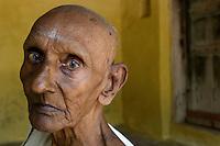 Mr. Ramanathan 86 years old, at the front of his home in No: 5 Sathayappen North Street., Nagapattinam...