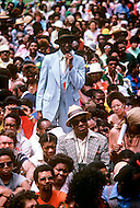 Washington, DC - March 17, 1980. Operation PUSH (People United to Serve Humanity) was founded by African-American, Reverend Jesse Jackson, a political activist for civic rights, notably those of the black community. During the operation thousands of protesters demonstrated, in front of the White House, for employment, against the rising cost of living, and the politics of American President Jimmy Carter.