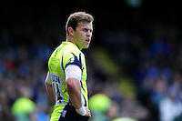 Will Addison of Sale Sharks looks on during a break in play. Aviva Premiership match, between Bath Rugby and Sale Sharks on April 23, 2016 at the Recreation Ground in Bath, England. Photo by: Patrick Khachfe / Onside Images