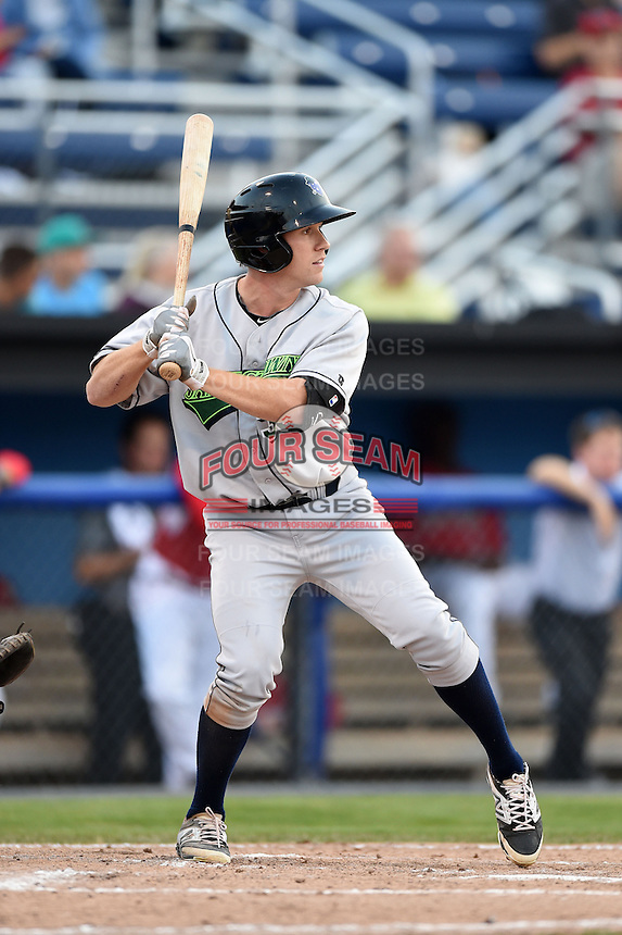 Jamestown Jammers outfielder Jordan Luplow (39) at bat during a game against the Batavia Muckdogs on July 7, 2014 at Dwyer Stadium in Batavia, New York.  Batavia defeated Jamestown 9-2.  (Mike Janes/Four Seam Images)