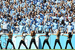 04 October 2014: UNC fans and the UNC dance team. The University of North Carolina Tar Heels hosted the Virginia Tech Hokies at Kenan Memorial Stadium in Chapel Hill, North Carolina in a 2014 NCAA Division I College Football game. Virginia Tech won the game 34-17.