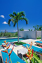 Swimming Pool at Hix Island House, a luxury inn designed by architect John Hix; Vieques Island, Puerto Rico.
