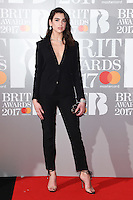 Dua Lipa at the 2017 Brit Awards at the O2 Arena in London, UK. <br /> 22 February  2017<br /> Picture: Steve Vas/Featureflash/SilverHub 0208 004 5359 sales@silverhubmedia.com