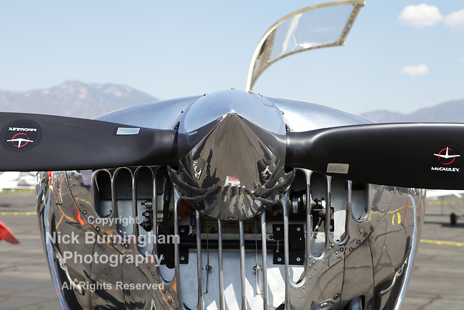 EL MONTE, CALIFORNIA, USA - SEPTEMBER 23, 2012 - A wide variety of rare vintage aircraft and cars on display at the El Monte Airshow on September 23, 2012.