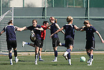 28 March 2009: The Washington Freedom practiced on Field 2 at the Home Depot Center in Carson, California the day before playing in the Women's Professional Soccer inaugural game.