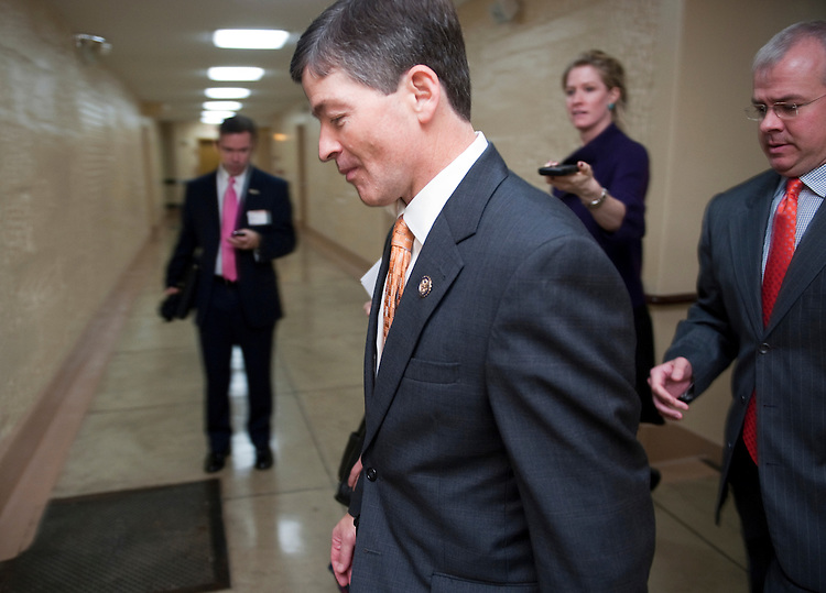 UNITED STATES – NOVEMBER 15: Rep. Jeb Hensarling, R-Texas, co-chair of the Joint Select Committee on Deficit Reduction, leaves the House Republican Conference meeting in the basement of the U.S. Capitol on Tuesday, Nov. 15, 2011. (Photo By Bill Clark/CQ Roll Call)